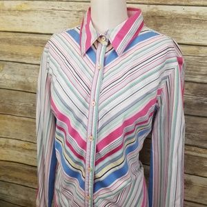 Tommy Hilfiger Vertical Slimming Button Shirt XL